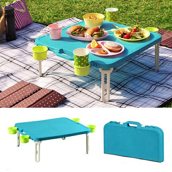 日本SHINWA伸和 野餐桌(藍 / 紅) 0