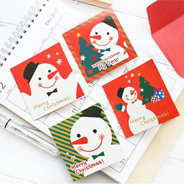 聖誕卡-韓國可愛聖誕節賀禮卡 耶誕禮物 交換禮物 聖誕節 生日卡 生日禮物