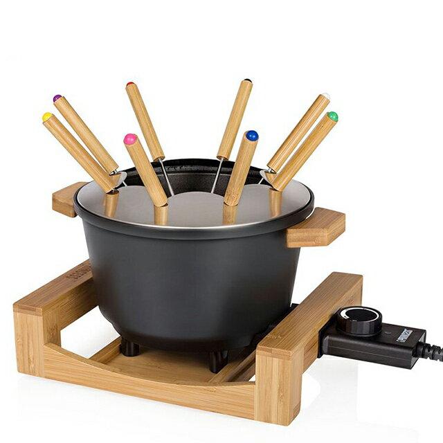 ★加贈專用油炸籃★《PRINCESS荷蘭公主》多功能陶瓷料理鍋(黑) 173026 1