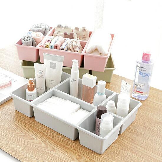 ●MY COLOR●簡約多功能收納盒 桌面 分格 化妝品 塑料 多格抽屜 雜物 整理盒 護膚品 【N416】