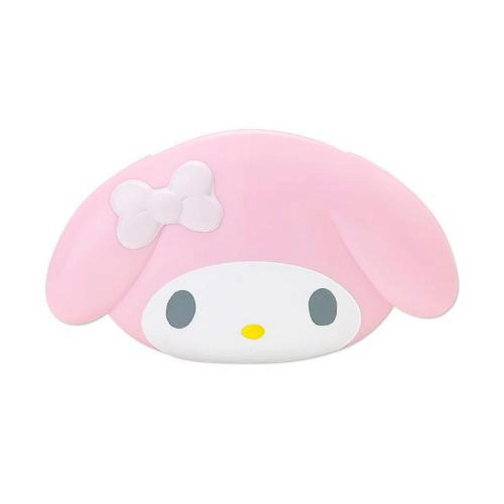 【真愛日本】12082900015 頭型粉結造型鏡-附梳 三麗鷗 Melody 美樂蒂 化妝鏡 隨身鏡 正品
