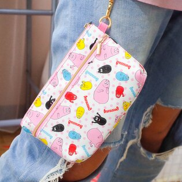 PGS7泡泡先生系列商品-BARBAPAPA泡泡先生雙層手機袋皮包收納袋【SIY71359】