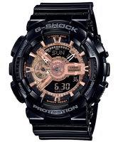 CASIO 卡西歐 GA-110MMC-1A G SHOCK 變形金剛黑玫瑰金重型休閒錶 黑 51 mm-清水鐘錶-流行女裝