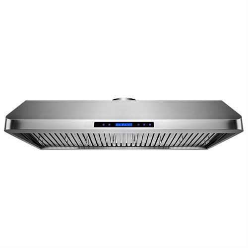 "AKDY 54"" Stainless Steel Under Cabinet Mount Range Hood Touch Screen Display Light Baffle Filter 0"