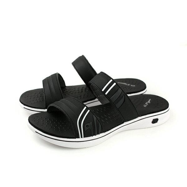 GP (Gold.Pigon) 阿亮代言 涼鞋式 拖鞋 女鞋 黑色 G8589W-10 no887