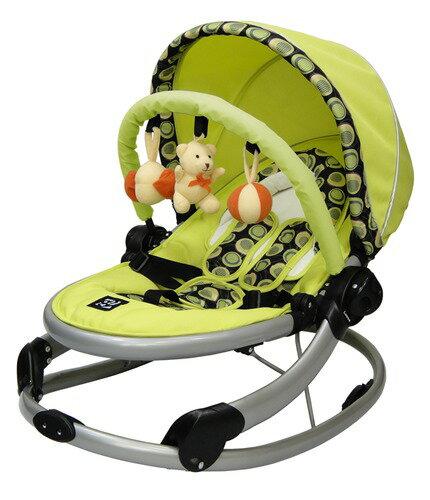 【福利品出清】可麗兒 多功能嬰兒搖椅/搖床 (紅色格紋/蘋果綠)【紫貝殼】