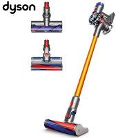 戴森Dyson到【買就送保溫杯】Dyson 戴森 V8 Carbon Fibre SV10 無線手持式吸塵器 金色 雙皇大吸頭組