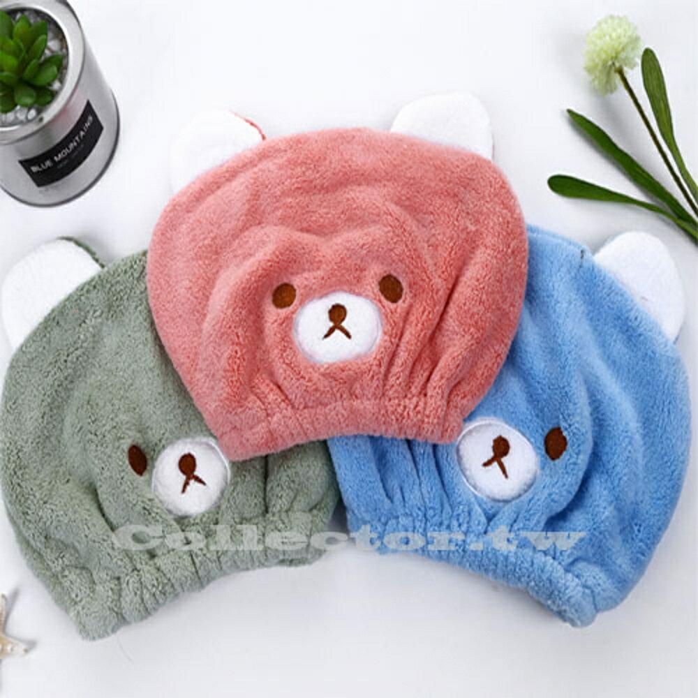 ✤宜家✤兒童乾髮帽 可愛動物刺繡超強吸水乾髮帽 兒童乾髮巾 - 限時優惠好康折扣