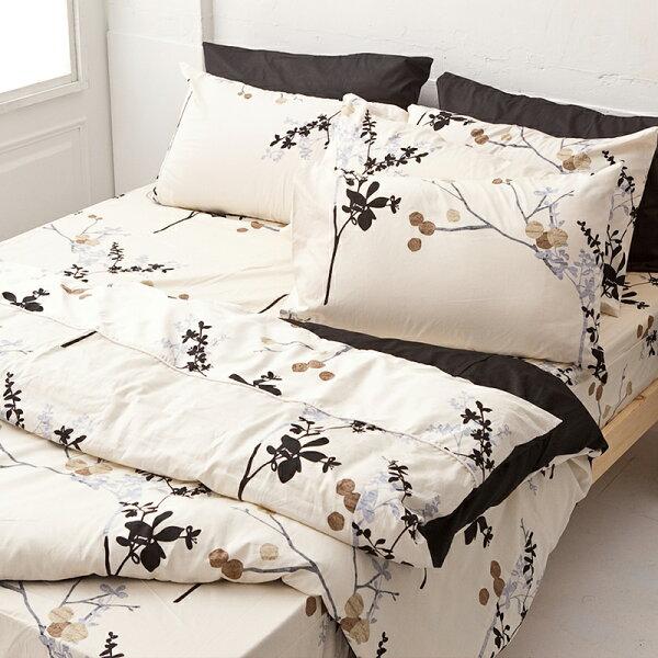 床包被套組雙人特大-100%精梳棉【京都物語】含兩件枕套四件式,戀家小舖台灣製S02-AAS212