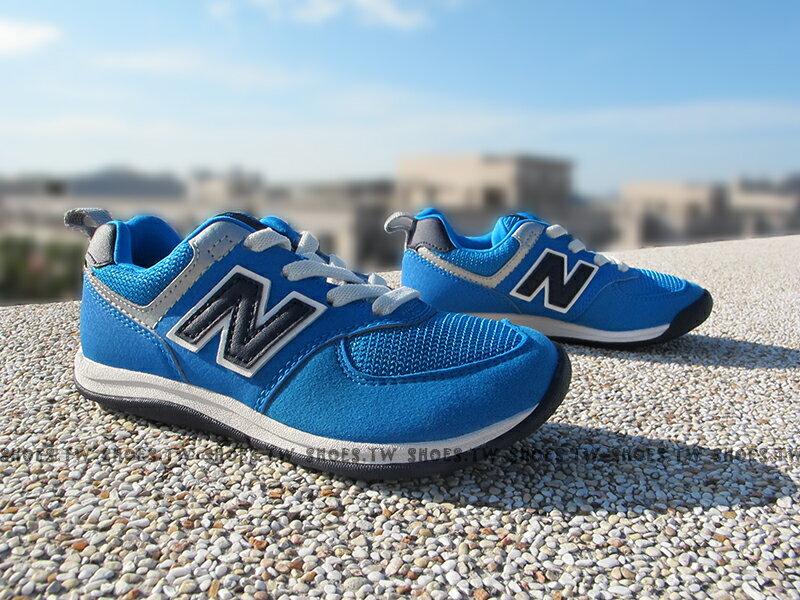 Shoestw【KS574SBI】NEW BALANCE 574 童鞋 運動鞋 小童 寶藍 麂皮 寬楦