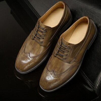 短靴真皮繫帶靴子-英倫巴洛克雕花擦色男靴3色73kk85【獨家進口】【米蘭精品】
