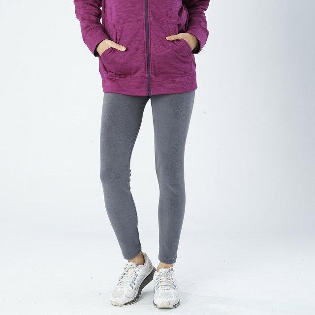 【MACPOLY】台灣製造 / 女刷毛保暖超高彈力運動休閒顯瘦緊身內搭長褲 MP-241(灰色 S-2XL)