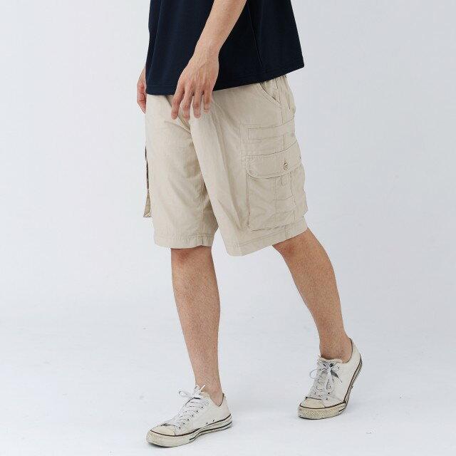 【MACPOLY】開幕下殺85折/男梭織涼感 coldtack 休閒短褲(卡其色 S-XL)