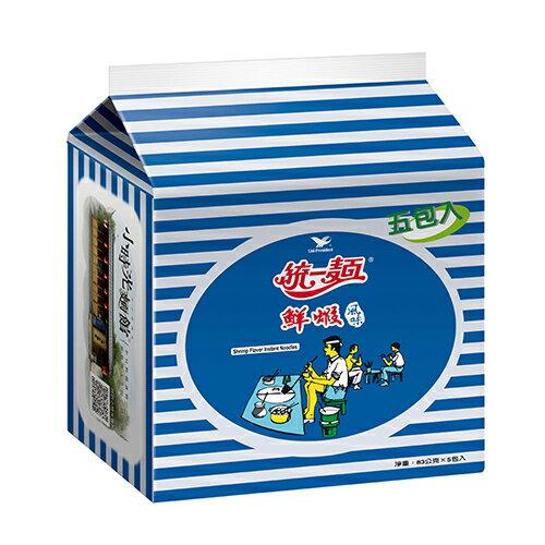 統一麵鮮蝦風味83Gx5入【愛買】