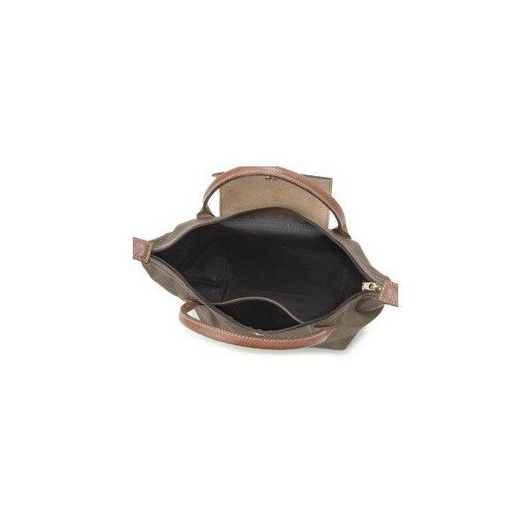 [短柄S號]國外Outlet代購正品 法國巴黎 Longchamp [1621-S號] 短柄 購物袋防水尼龍手提肩背水餃包 枯葉草 2