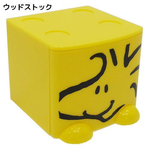 【真愛日本】17060600002 積木抽屜立體收納盒-塔克黃 史奴比 史努比 SNOOPY 收納櫃 抽屜櫃