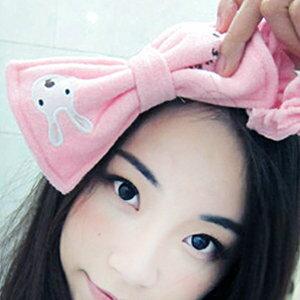 美麗大街【BFK23E4E16】砂糖兔太子兔蝴蝶結束髮帶