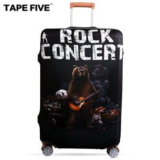 E&J【021001-30】Tape Five 搖滾音樂 高彈性行李箱套;適用27-29吋/防塵套/防刮/行李箱保護套
