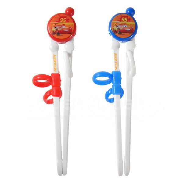 Disney迪士尼益智學習筷閃電麥昆(紅藍)(顏色隨機出貨)【悅兒園婦幼生活館】