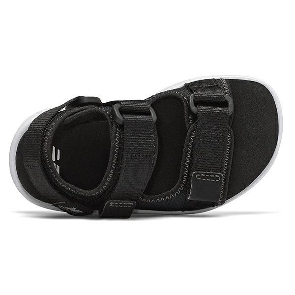 Shoestw【IH750BK】NEW BALANCE NB750 涼鞋 涼拖鞋 運動涼鞋 童鞋 小童鞋 黏帶 黑白 2
