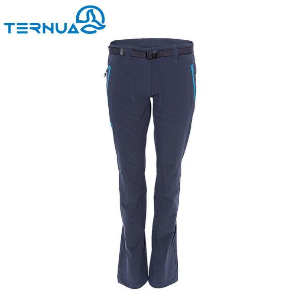 【西班牙TERNUA】女Shellstretch休閒彈性褲1273040(S-XL)城市綠洲(透氣、輕量、耐磨、防潑水)