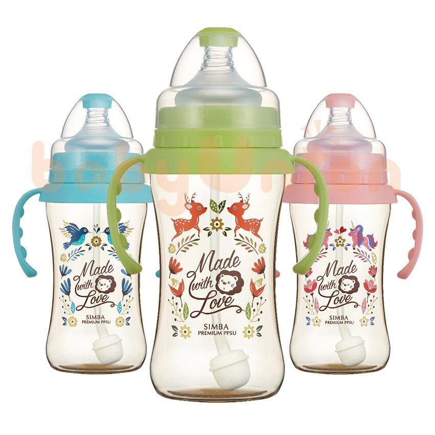 Simba小獅王辛巴 - 桃樂絲 - PPSU自動把手寬口雙凹中奶瓶270ml