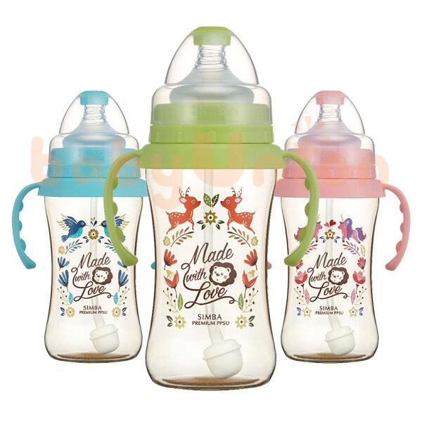 Simba小獅王辛巴-桃樂絲-PPSU自動把手寬口雙凹中奶瓶270ml