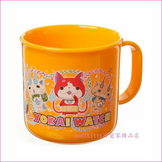 asdfkitty可愛家~ BANDAI妖怪手錶黃色塑膠水杯 學習杯 漱口杯~200ML~