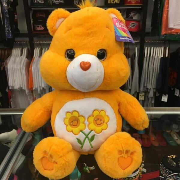 BEETLE PLUS:BEETLE全新現貨CAREBEARSFRIENDBEAR愛心熊友誼熊橘黃色向日葵約48公分