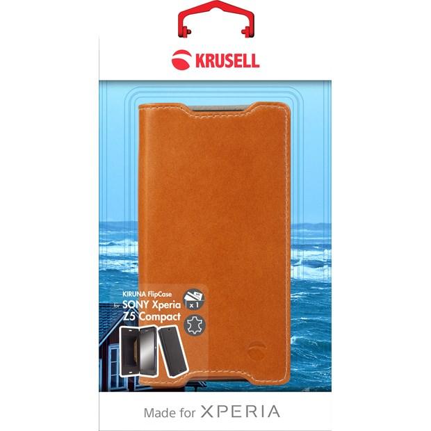 (贈32G記憶卡)Krusell 側掀皮套/SONY Xperia Z5 Compact/手機套/側翻皮套【馬尼通訊】