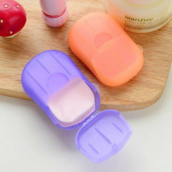 ●MYCOLOR●便攜式洗手香皂紙消毒抗菌迷你清潔衛生肥皂戶外兒童殺菌【M131】