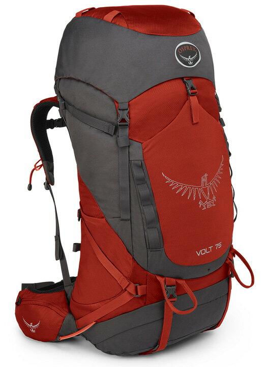 【鄉野情戶外用品店】 Osprey |美國| Volt 75 輕量登山背包 《男款》/健行背包 自助旅行背包-洋紅/Volt75 【容量75L】