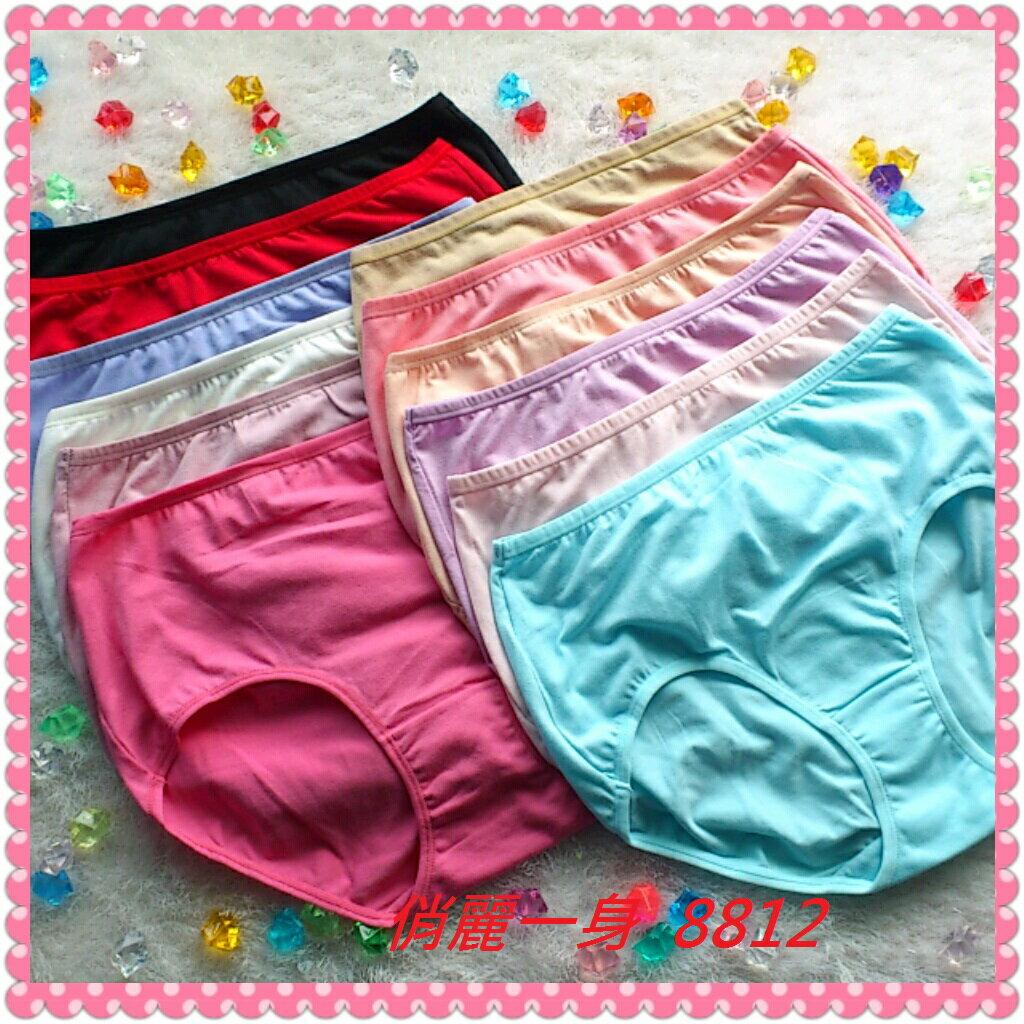 【3件包組】高腰內褲加大尺碼孕婦媽媽褲舒適棉質女仕褲三角褲~多種色系8812俏麗一身
