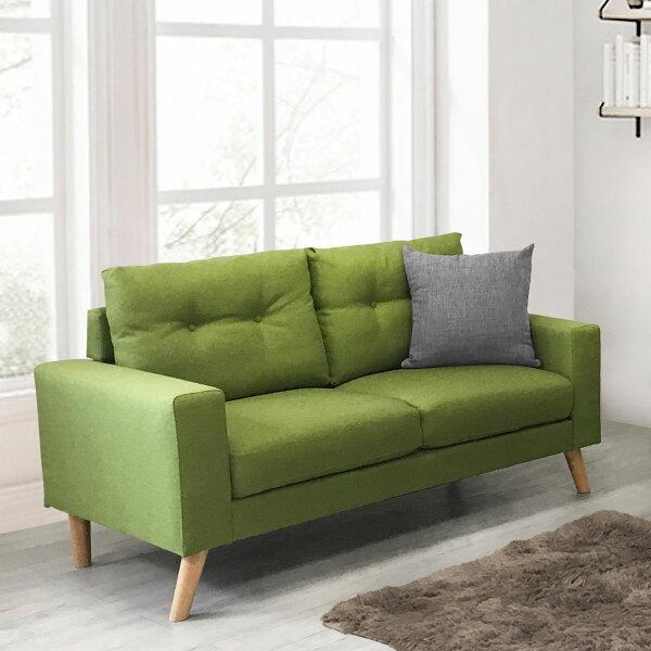 !新生活家具!《翡翠》新品綠色雙人沙發二人座二人位布沙發亞麻布日式清新自然套房客廳工廠直營