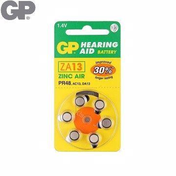 {光華成功NO.1} GP 助 聽 器 用電池ZA13 (6入)(BAT-GPB-ZA13-D6)  喔!看呢來