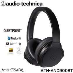志達電子 ATH-ANC900BT 日本鐵三角 Audio-technica 藍牙無線主動式抗噪耳罩式耳機(台灣鐵三角公司貨)