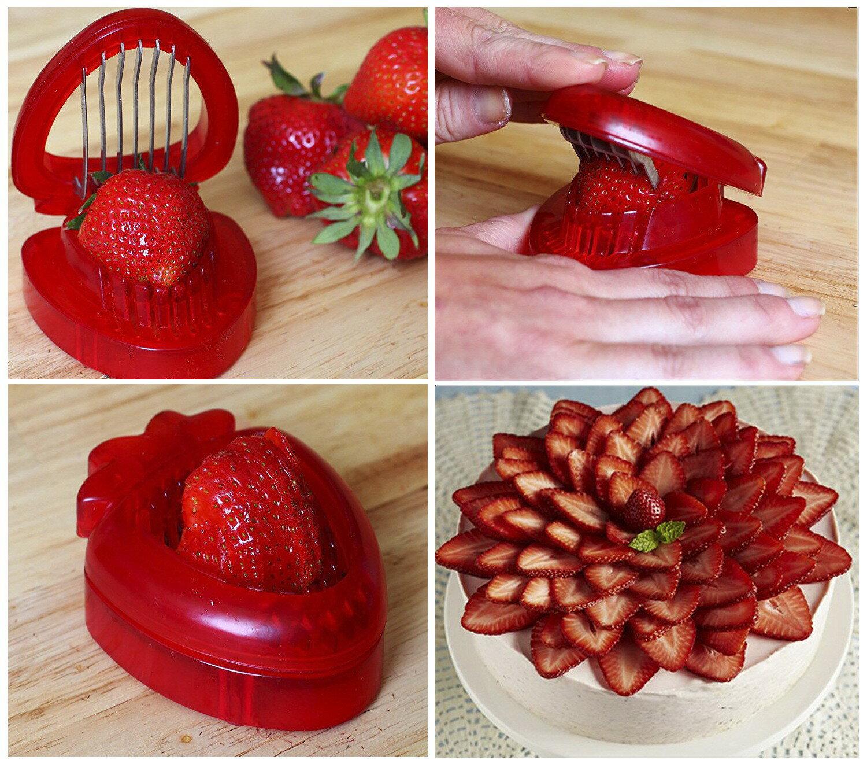 草莓切片器切草莓神器草莓蛋糕水果拼盤工具廚房切果器草莓分割器1入