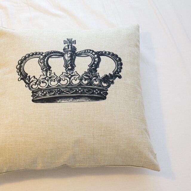 女王的皇冠  棉麻材質   45cmX45cm 花色獨特 觸感扎實 2