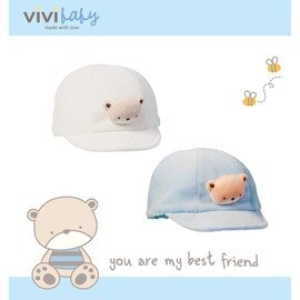 ViVi Baby - 熊熊棒球帽 (白) 0