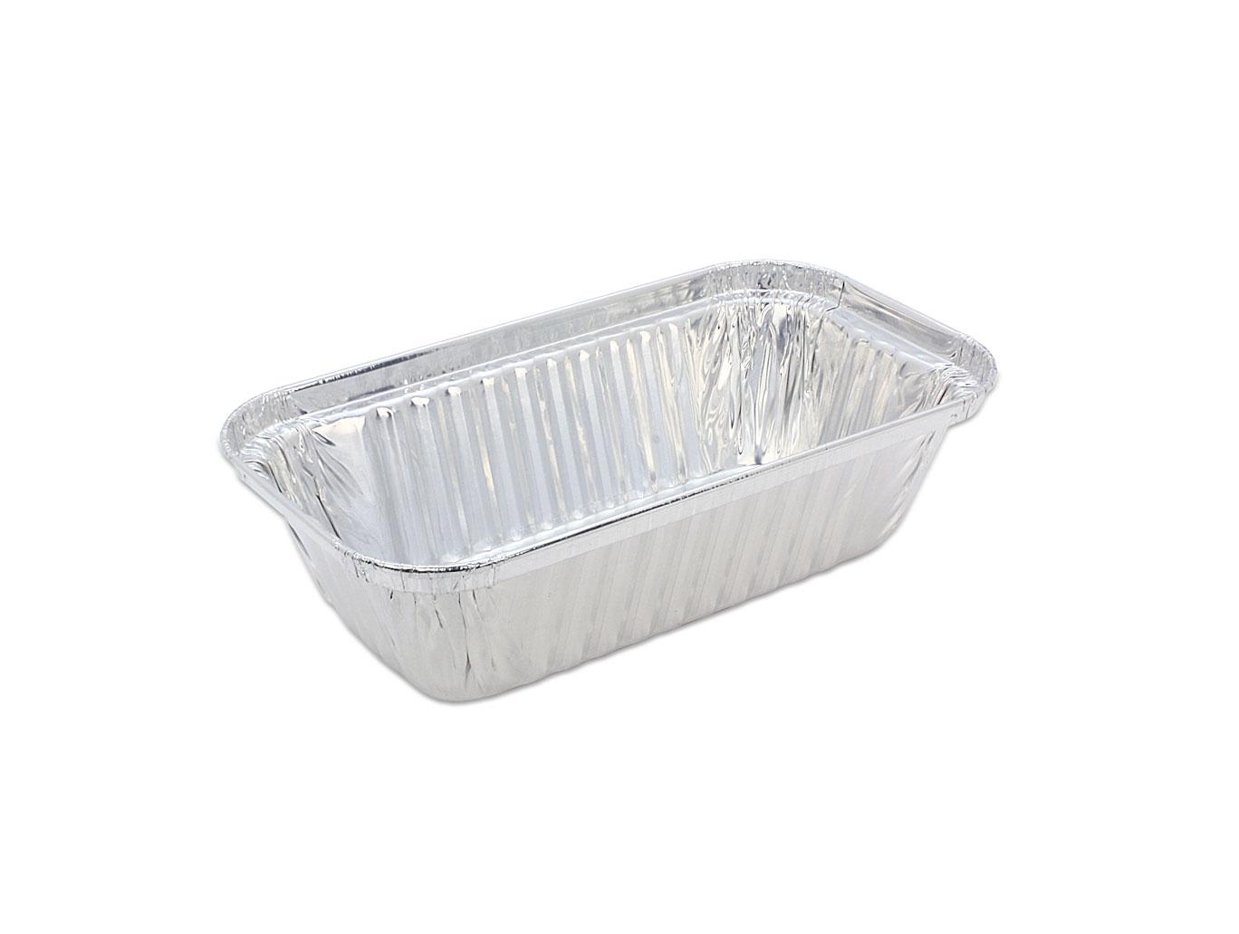 鋁箔容器、錫箔、焗烤盒、水果條  方形 671 (125pcs/包)(鋁紙蓋選配)
