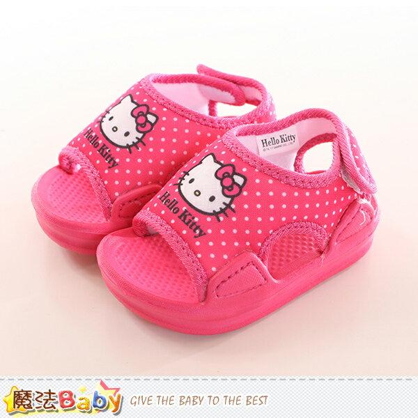 寶寶鞋 Hello kitty授權正版女童涼鞋 魔法Baby~sk0163