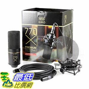 [106美國直購] MXL 專業電容式麥克風含避震架 MXL 770X Multi-Pattern Vocal Condenser Microphone Package