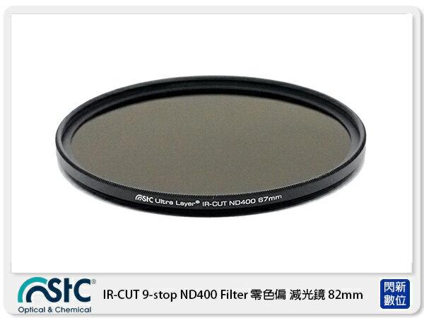 【折價券現折+點數10倍↑送】送STC USB小米燈~STC IR-CUT 9-stop ND400 Filter 零色偏 減光鏡 82mm (82公司貨)