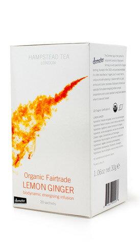 世界知名品牌~有機檸檬薑茶~英國漢普斯敦有機香草茶Hampstead Tea~檸檬薑茶demeter認證
