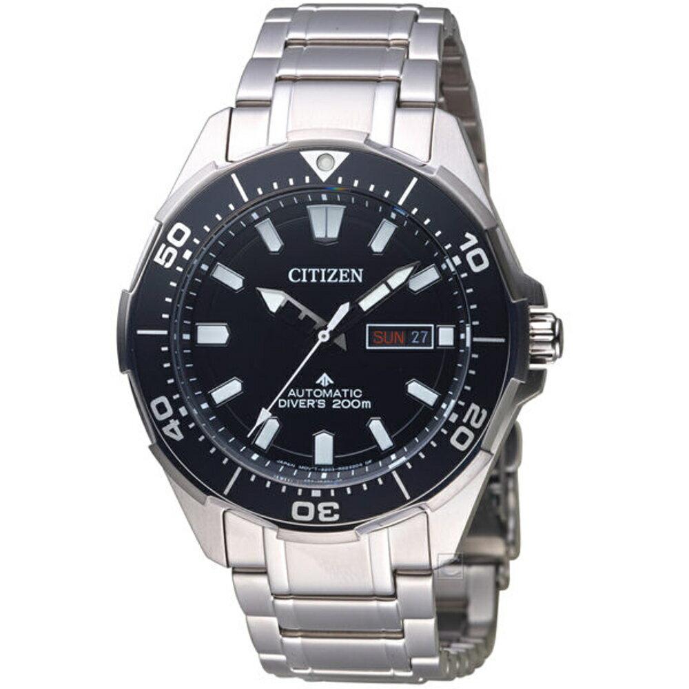 CITIZEN 星辰 PROMASTER 防水200M鈦金屬腕錶 NY0070-83E 黑色