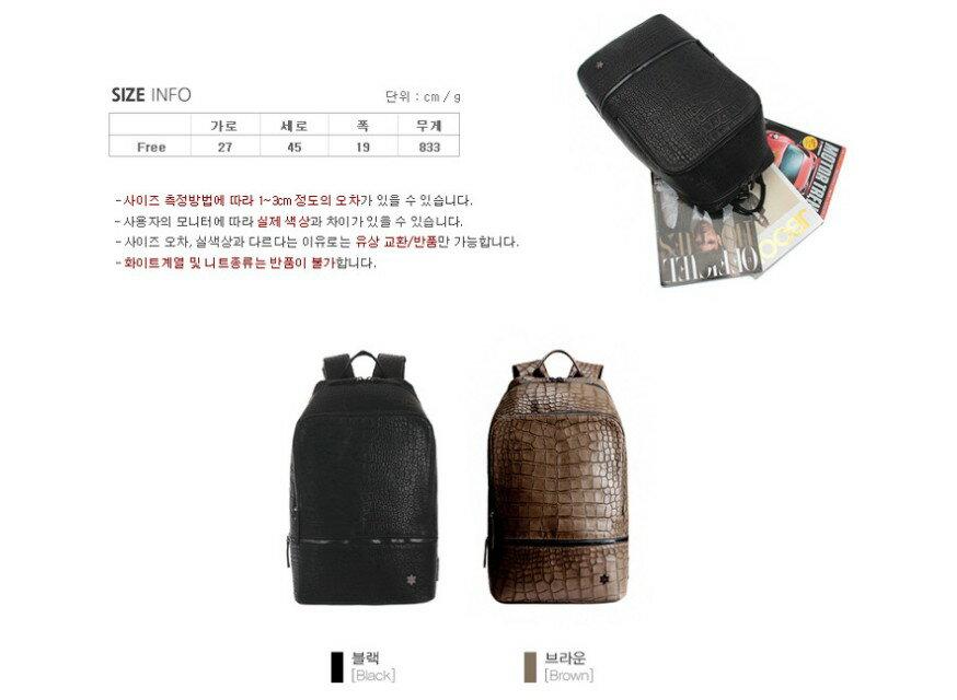 韓國代購 高品質 簡約男性公事14.15吋筆電雙背包 經典包 4
