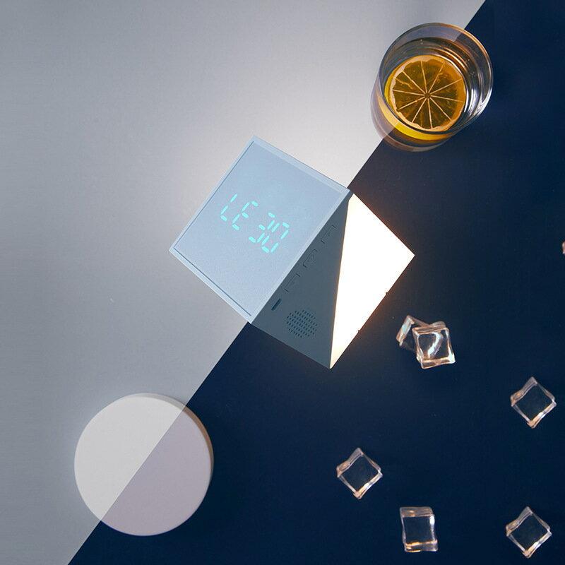 新品時光魔方鬧鐘 創意LED小夜燈卡通鬧鐘usb