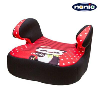 法國NANIA 納尼亞 安全座椅輔助墊 (熊貓紅)