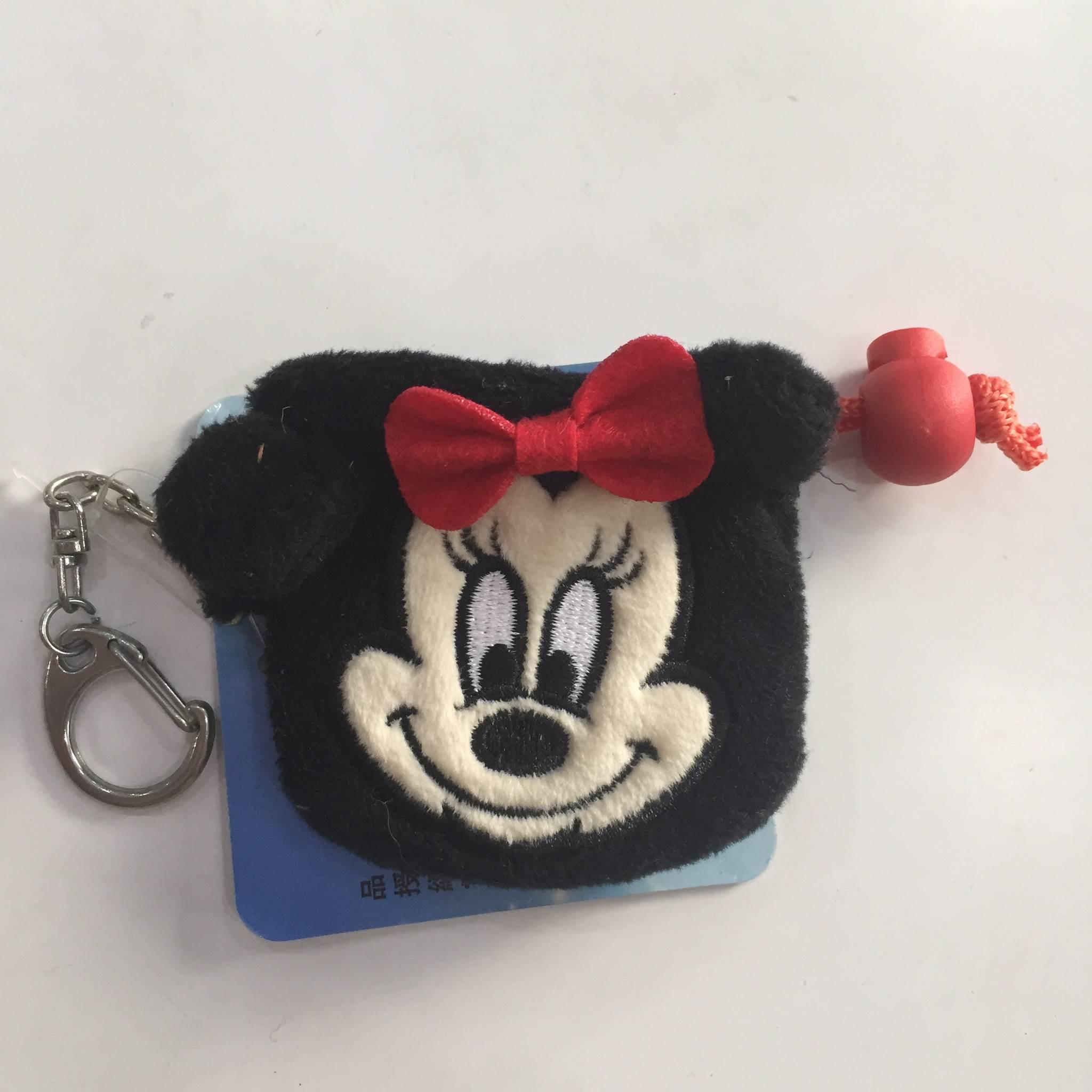 【米妮】迪士尼 Disney 可愛 束口袋 零錢包 收納袋 鑰匙圈 聖誕禮物