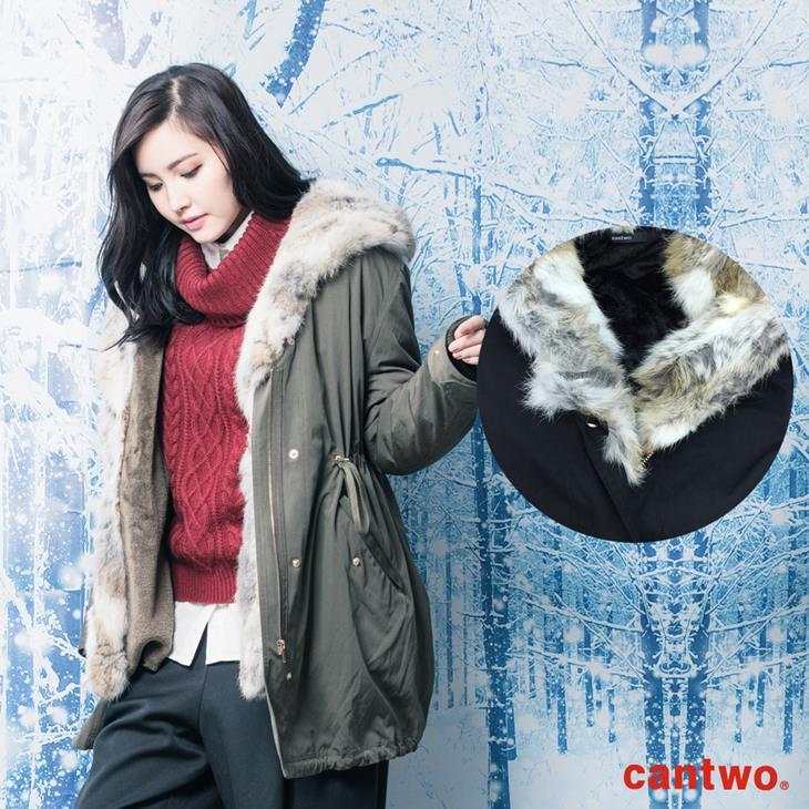 can兔毛兩穿式連帽外套(共二色) 6